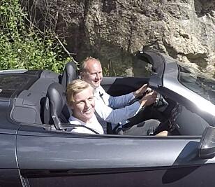 LYKKELIG: Carl-Fredrik fikk en drømmedag i Audi R8. Foto: Jamieson Pothecary
