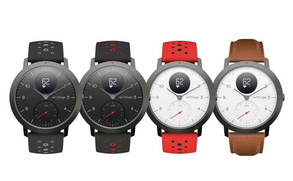 NY AKTIVITETSKLOKKE FRA WITHINGS: Withings lanserer sine første klokker etter at de ble kjøpt tilbake til opprinnelige eiere etter en tid som innlemmet i Nokia-familien; Withings Steel HR Sport. Foto: Withings