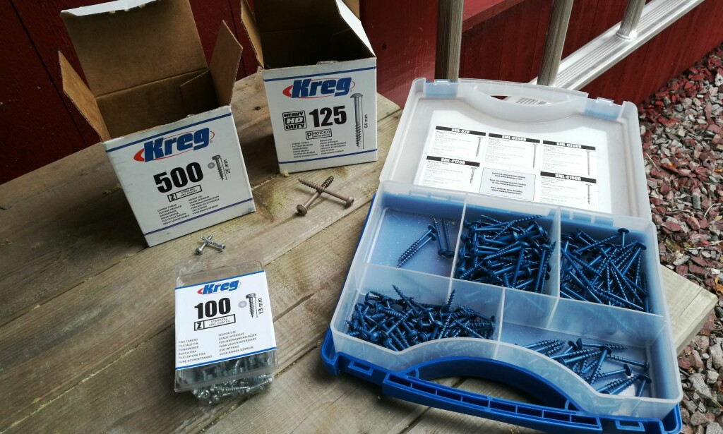 SKRUER: Kreg har et godt utvalg av kompatible skruer som fås der utstyret selges. Foto: Brynjulf Blix