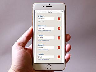 <strong>FOR MOBIL:</strong> Kalkulatorene våre skal være morsomme og nyttige å bruke på mobilen. Foto: Dinside