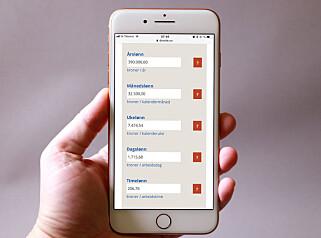 FOR MOBIL: Kalkulatorene våre skal være morsomme og nyttige å bruke på mobilen. Foto: Dinside