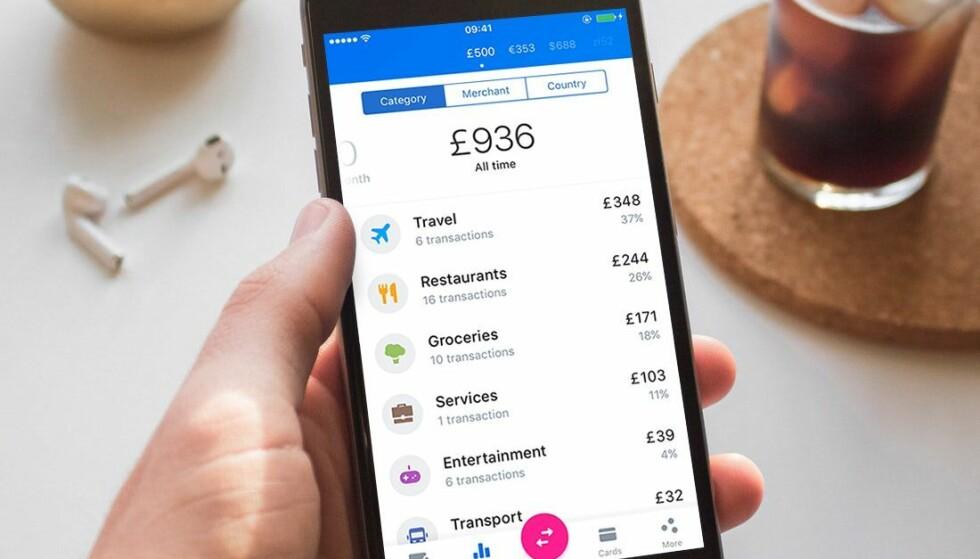 BETALINGSAPP: Revolut ble nylig lansert i Norge. Den kan være nyttig for mange, men kan du bytte ut hele banken med en slik app? Foto: Revolut