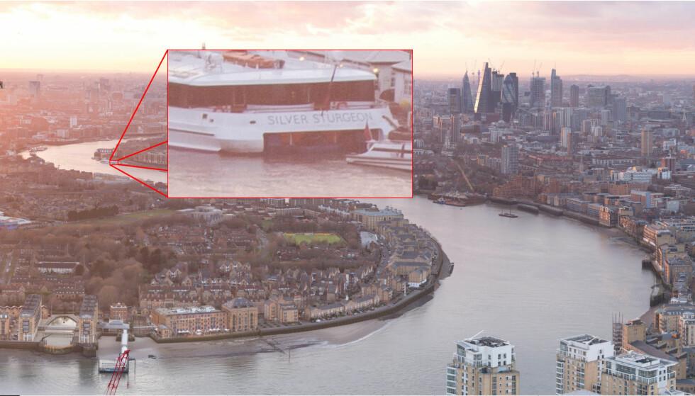 ZOOM INN: Ikke bare kan du zoome inn og få et svært detaljert bilde av London – du kan også la tiden gå og se hvordan byen ser ut til alle døgnets tider. Foto: Lenstore/Montasje: Pål Joakim Pollen