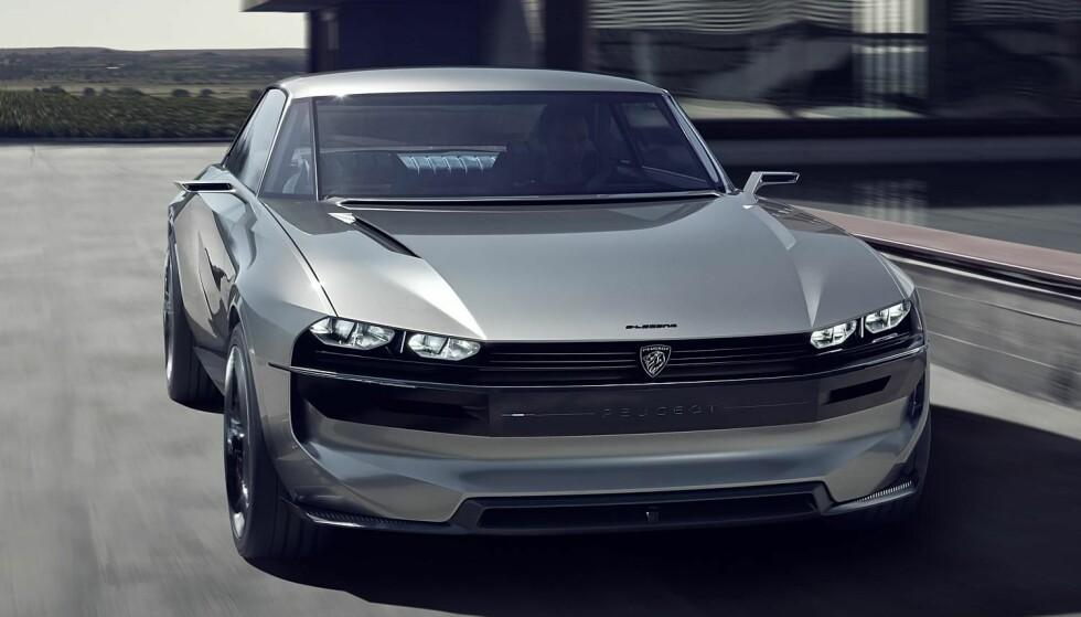 NYTT KONSEPT: Peugeot trekker fram legendariske 504 som inspirasjon til sitt nye elbilkonsept, e-Legend. Foto: Peugeot