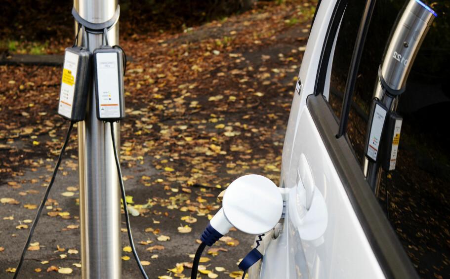 <strong>NYE AVGIFTER:</strong> Fra neste år kan det bli avgifter på de kommunale ladepunktene for elbiler i Oslo. Foto: NTB Scanpix