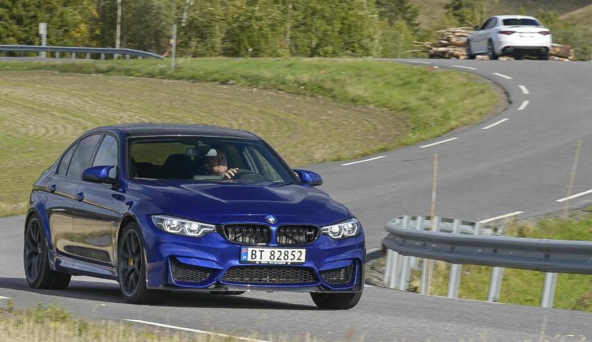 HARDCORE: BMW har tatt frem stemmegaffelen og finstemt M3 til å bli et skikkelig banevåpen med skilter. Foto: Jamieson Pothecary