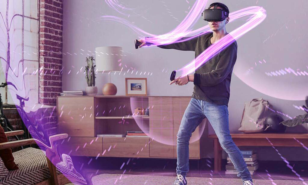 NYTT VR-HODESETT: Oculus har annonsert Quest - et frittstående VR-hodesett som du ikke trenger å koble til en PC. Foto: Oculus