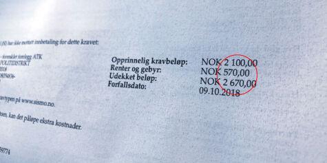 image: Er dette Norges høyeste purregebyr?