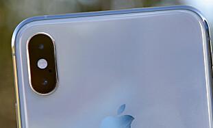 DOBBELT OPP: Begge de nye Xs-modellene har to kameraer på baksiden, slik iPhone X og Apples tidligere Plus-modeller har hatt tidligere. Foto: Pål Joakim Pollen