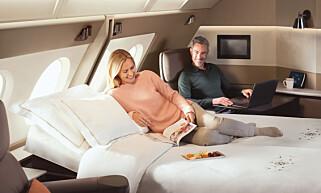 SUITE? Klart du skal få god lyd om du har råd til en egen suite om bord ... Foto: Singapore Airlines