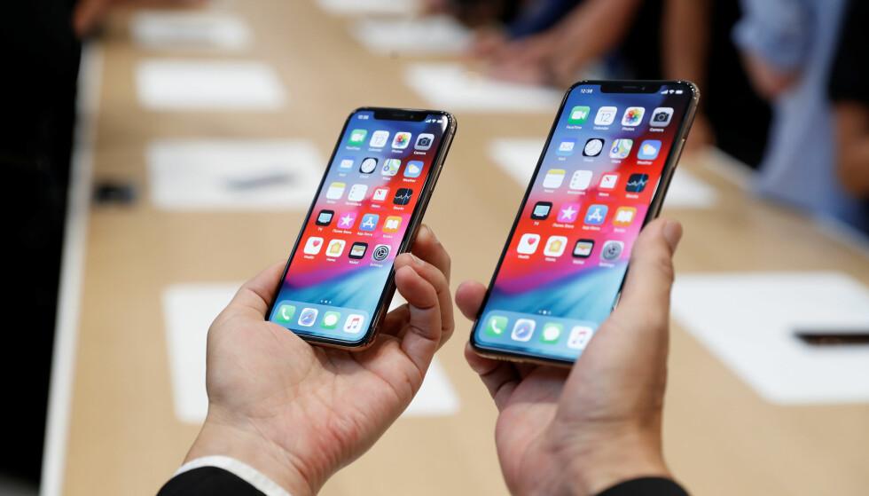 FERSKE EPLETELEFONER: Apples nye iPhone Xs og Xs Mac er nå i butikkene. Nå har samtidig barnesykdommene begynt å melde sin ankomst. Foto: Stephen Lam/Reuters/NTB Scanpix