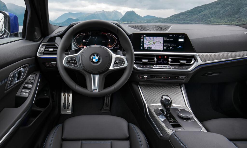 HELT NY: Nye 3-serie får den helt nye digitale cockpit-en som nylig ble introdusert i X5. Foto: BMW