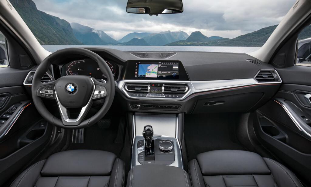 GODT UTSYN: Tynnere A-stolper gjør at man ser bedre ut av frontruten. Foto: BMW