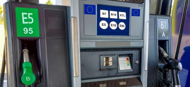 image: Ny merking på bensin- og dieselpumpene