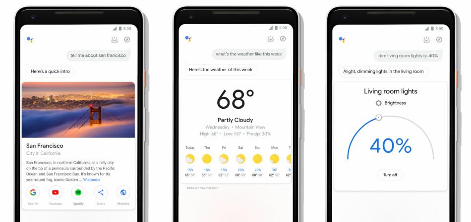FÅR ET LØFT: Google har gitt talestyringsassistentet et etterlengtet designløft. Foto: Google