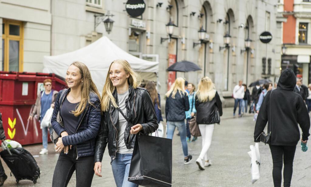LAVERE KONSUM: Husholdningenes varekonsum har vært avtakende de siste månedene. Foto: Thomas Brun/NTB scanpix.