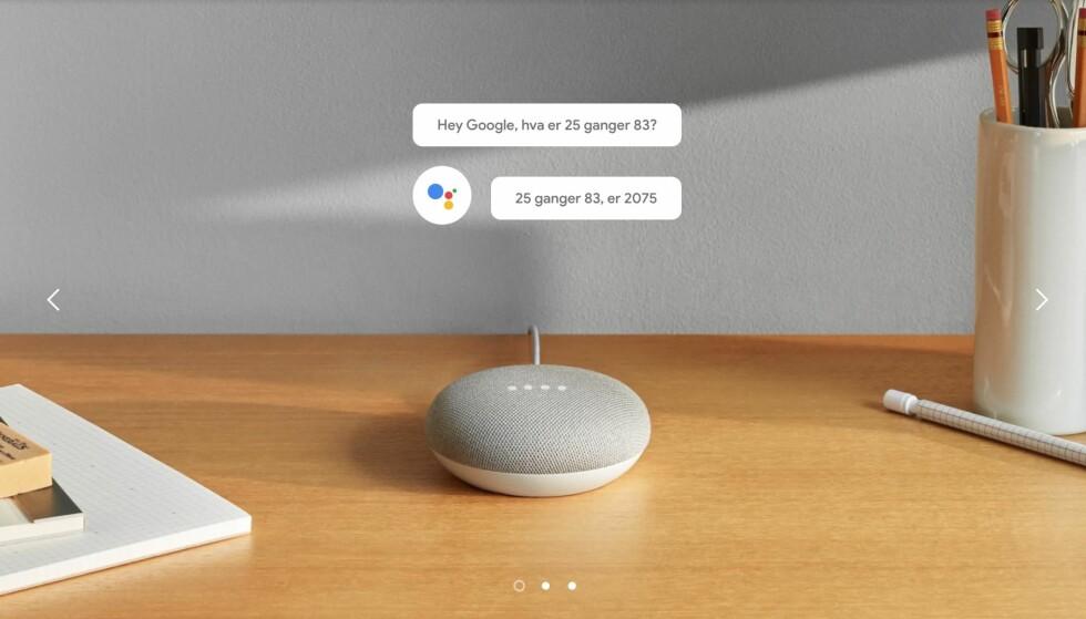 NORSK ALLEREDE: Du kan snakke norsk til Google Home-høyttalerne allerede nå, selv om norsk lansering ikke er før om to uker. Foto: Google