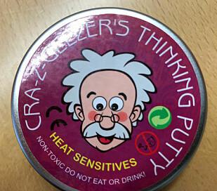 STOPP: Salget av Cra-z-Geezers thinking putty er stoppet etter Miljødirektoratets undersøkelse. Foto: Miljødirektoratet