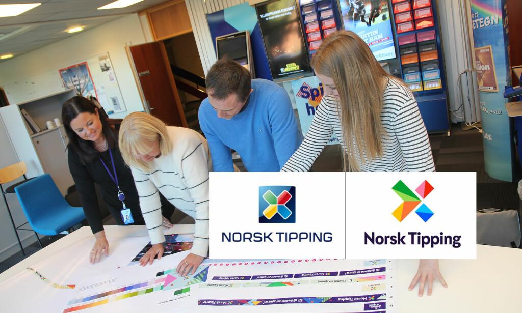 NY LOGO TIL 100 MILLIONER KRONER: Norsk Tipping har fornyet logoen. Prislapp: 100 millioner kroner. Foto: Norsk Tipping/NTB scanpix