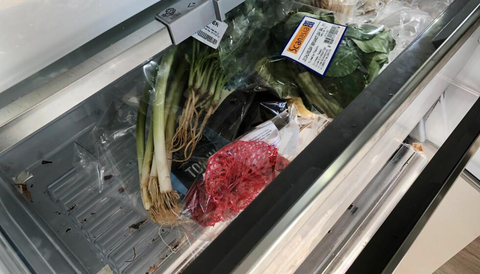 <strong>BAKTERIER I KJØLESKAP:</strong> Vasker du for sjelden, kan det gi god grobunn for bakterier i kjøleskapet ditt. Foto: Linn M. Rognø