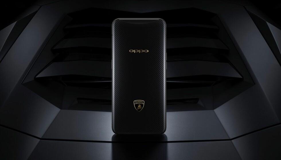LADER EKSTREMT RASKT: Lamborghini-utgaven av Oppo Find X lader med 55 watts effekt. Foto: Oppo