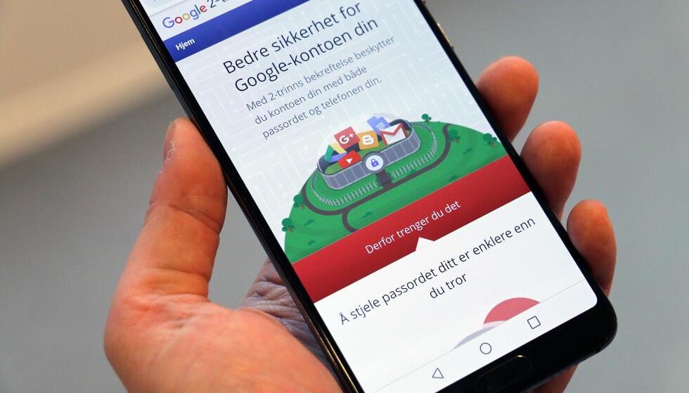 EKSTRA SIKKERHET: Å stjele passordet ditt er enklere enn du tror. Foto: Pål Joakim Pollen