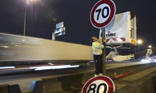 image: Vil sette ned fartsgrensen fra 80 til 70 km/t