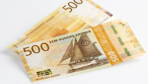 De nye 500-kronesedlene. Foto: Norges Bank