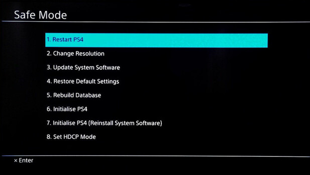 Ved å holde fingeren inne når du slår på konsollen, starter du PlayStation 4 i «safe mode». Foto: Sony