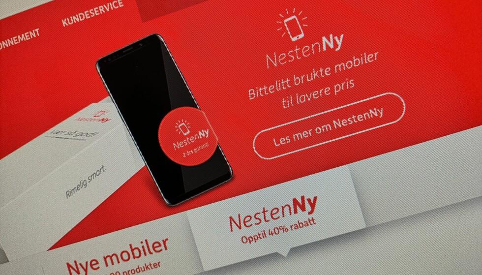 NY ORDNING: Via Onecalls NestenNy-ordning kan du kjøpe brukte telefoner til en lavere pris. Foto: Pål Joakim Pollen