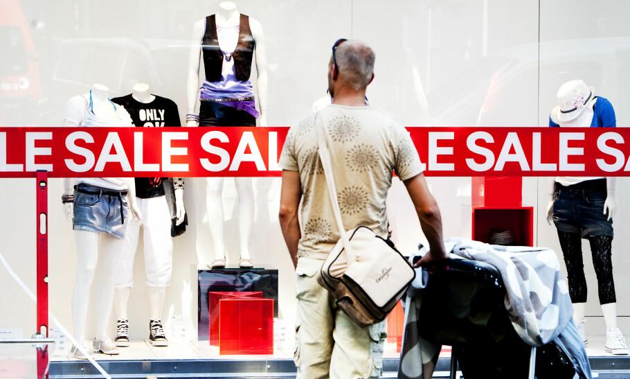 ØKER MEST: De siste 17 årene har kjøp av klær og sko økt med 160 prosent per person, viser tall fra SSB. Foto: Gorm Kallestad/NTB Scanpix.