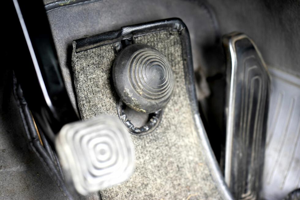BREMSESOPP: Denne gummidingsen er SMs svar på bremsepedal. Krever tilvenning. Foto: Paal Kvamme