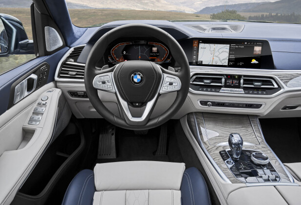 DEN NYE TID: BMWs nye digitale og omgrupperte førermiljø er av samme typen som i nye X5 og kommende 3-serie. Foto: BMW