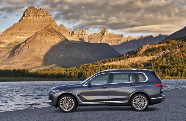 XXL: BMW X7 har amerikanske dimensjoner. I USA blir Cadillac Escalade en av konkurrentene. Foto: BMW