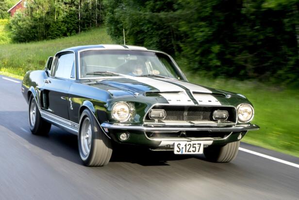 IKON: Både synet og lyden av en Shelby Mustang på veen er helt spesielt. Foto: Paal Kvamme