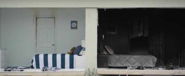 FORSKJELLEN PÅ EN LUKKET DØR: Resultatet av å sove med døren åpen (til høyre) og lukket (til venstre. Foto: Skjermdump fra videoen «Close before You doze», fra UL FSRI