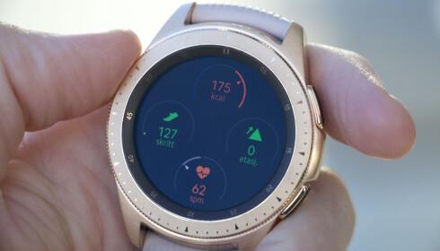 <strong>AVANSERT AKTIVITETSMÅLER:</strong> Galaxy Watch har det meste av aktivitetsmåling på både dag og natt. Foto: Kirsti Østvang