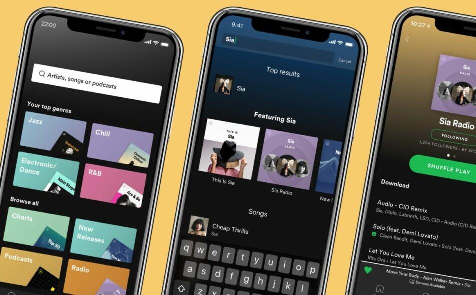 EGNE PREMIUM-FUNKSJONER: Denne uken oppdateres Spotify med funksjoner for betalende brukere. Foto: Spotify