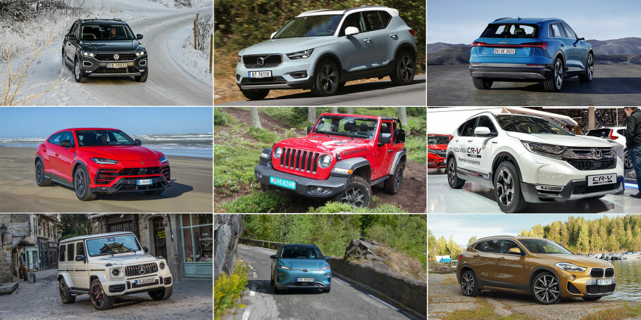 GODE KANDIDATER: Det er mange spennende biler å velge blant når vi skal kåre den aller beste fra dette året.