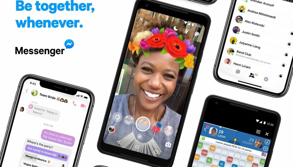 BLIR NY: Facebook har redesignet Messenger slik at den skal være enklere å bruke. Foto: Facebook