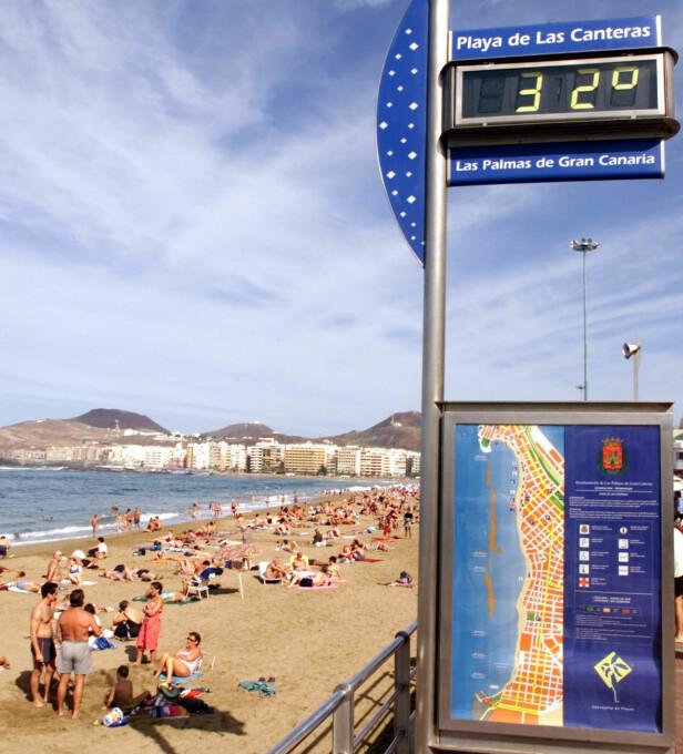 EUROPAS 10. BESTE: Playa de Las Canteras er Europas 10. beste strand, ifølge en fersk kåring av verdens beste strender. Foto: NTB scanpix
