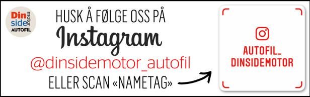 Husk! Følg oss på Instagram! @dinsidemotor_autofil