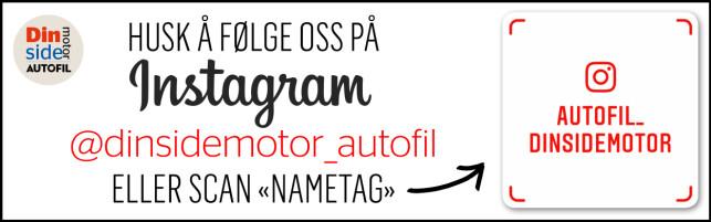 """HUSK! Følg oss på Instagram - @dinsidemotor_autofil - Vi legger ut jevnlig med """"behind the scenes"""" på Instastory, alle videoer kommer på IGTV i tillegg til alle vår egne bilder fra biltester du ikke finner noen andre sted!"""