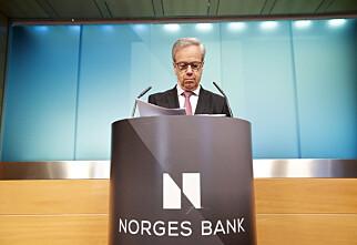 Norges Bank holder som ventet styringsrenta uendret på 0,75 prosent
