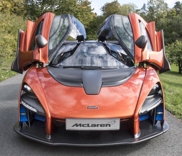 FREDLYS MCLAREN: En av de få McLaren Senna som skal produseres. Blir å se på Oslo Motorshow. Foto: OMS