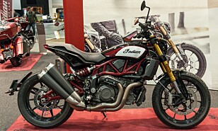 DUCATI-KONKURRENT: Indian FTR 1200 er en racing-sykkel laget for gatebruk. Foto: Jamieson Pothecary