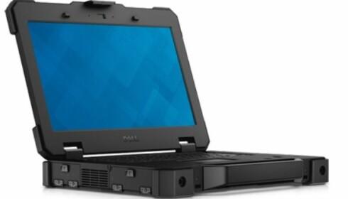 Dell Latitude 14 Rugged Extreme skal tåle en trøkk, for å si det mildt. Foto: Dell