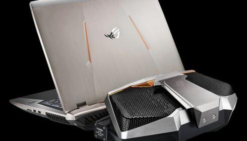 Asus GX800 er ikke en PC du drar frem på toget. Foto: Asus