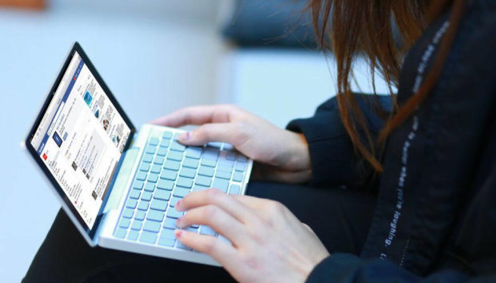 <strong>MINI-PC:</strong> GPD Pockets største egenskap er at den er liten. Foto: GamePad Digital