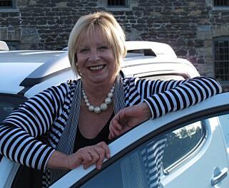 SJEF FOR KÅRINGEN: Administrerende direktør Sandy Myhre i Women´s Car of the Year. Foto: Privat